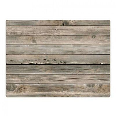 Shabby Chic Wood Effect Placemats Food Serving Dinning Mats Set Of 4