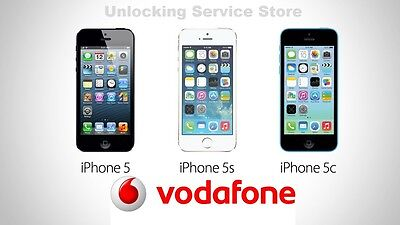 100% Official and FAST Vodafone UK unlocking Service iPhone 5 5S 5C