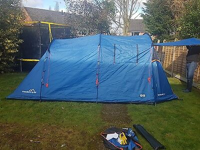 Freedom Trail Sendero 4 Berth tent, Standing Height used twice ex cond