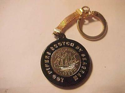 1965 100 Pipers Scotch By Seagram's Key Chain-British Half Penny