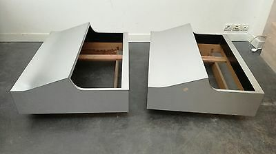 Table bout de canape modules Vintage 1970 dlg willy rizzo