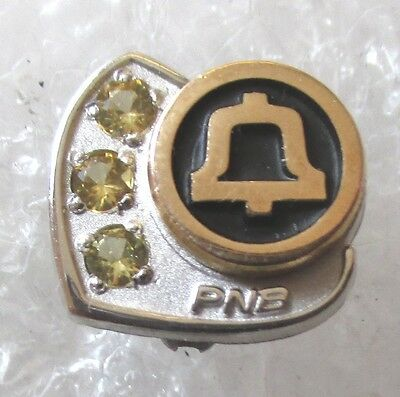 Vintage Pacific Northwest Bell Telephone Company Service Award Pin-PNB 10K GF