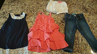 Lot of 4 2t Girl Summer Clothing