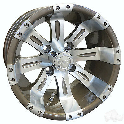BUY THE BUNDLE AND $AVE!  Golf Cart Wheels, Tires & Lift Kit (RX181 MACH PEARL)