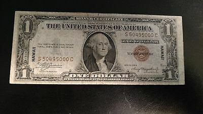 1935A $1 Hawaii silver certificate from WW II