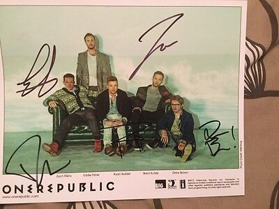 One Republic Native Ryan Tedder Oh My My Wherever I Go Autograph Signed Picture