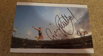 Signed Greg Rutherford London 2012 Olympic Gold Winning Photo Charity Long Jump
