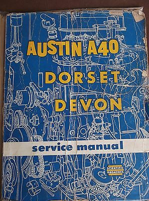 Austin A40 Vintage workshop Manual 1956