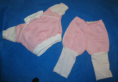 Vintage Cabbage Patch Kids Doll Pink Girl Sweatsuit Clothes Outfit Coleco CPK