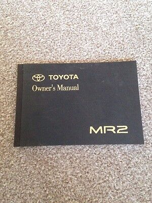 Toyota MR2 Owners Manual 1996