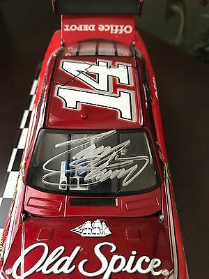 2009 Tony Stewart Office Depot Old Spice Signed 1/24 Diecast Car With Letter