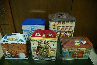 5 Pieces Collection cookie & Candy Tin