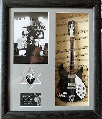 The Jam Framed Miniature Tribute Guitar with Plectrum