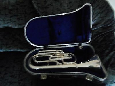 Boosey and Hawkes 400 Tenor Horn With Strong Case and Mouthpiece
