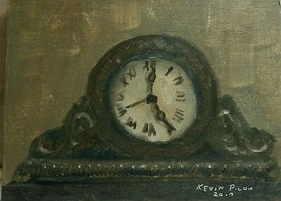 5 oclock  oil Painting 8x10  Signed and Dated by Artist Kevin Picou