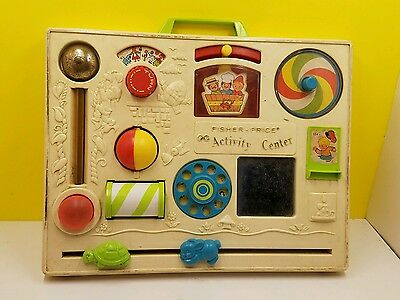 Vintage Fisher Activity Center #1134 Baby Crib Toy without box!