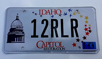 IDAHO LICENSE PLATE, Capitol Restoration W/ Sticker Super Tag Excellent Shape