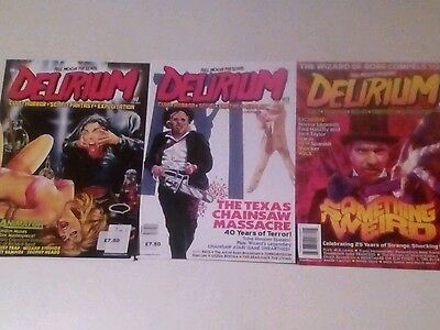 Delirium  X 3 Magazine Lot.