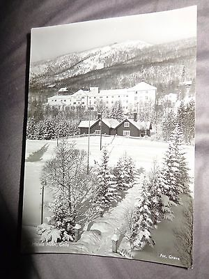 Norway Norge HOLMS HOTEL GEILO  real photo C1950 postcard .GROVO B/S