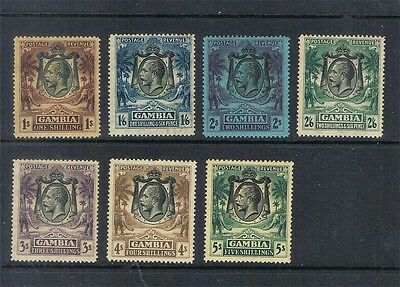 Gambia 1922 KGV SG 134-138,140-141 or Sc 113-119 MH