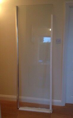 686x1997mm End Panel for Wet Room Shower Enclosure Glass Screen