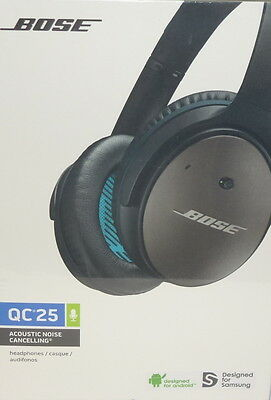 Bose QC25 Accoustic Noise Cancelling Headphones Designed for Samsung & Android