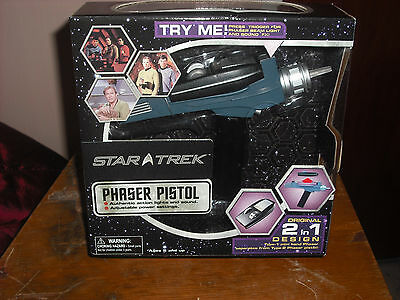 star trek TOS Phaser Type one + two combination. Black handle