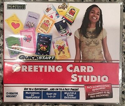 Quickstart Greeting Card Studio (Pc) Brand New Sealed - Free U.s. Ship - Win8, 7