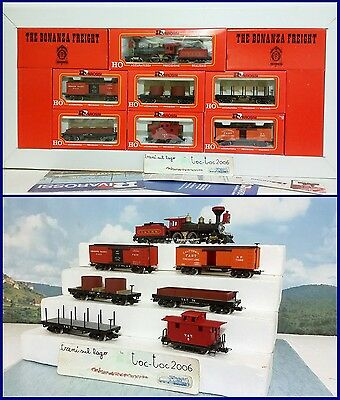 "RIVAROSSI CONVOGLIO MERCI ""THE BONANZA FREIGHT"" SUPERMODELLO HO art. 229 1:87 H0"