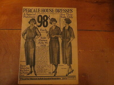 Vintage Sears, Roebuck and Co. Catalog  1922 complete