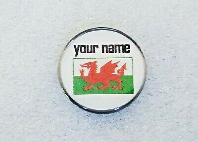 anneys - your OWN PERSONALISED  ** Welsh flag ** golf ball marker!!