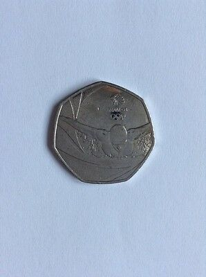 Rare collectable Rio Olympic 50p pence Team GB 2016 coin uncirculated