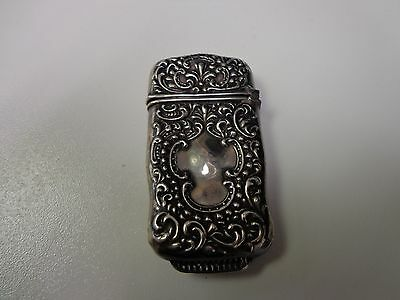 Antique Sterling Silver Vesta Match Safe Case Smith & Bartlam Biringham England