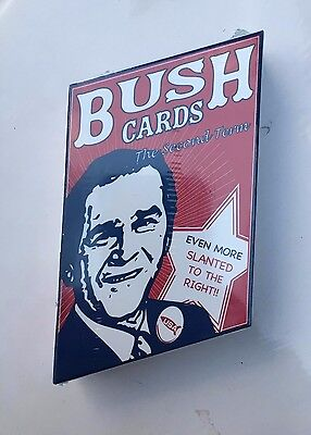 "George W. Bush ""The Second Term"" playing cards - ""slanted to the right"""