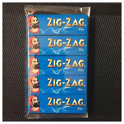 5 Pack Genuine Zig-Zag *blue* (Standard Size) Rolling Papers