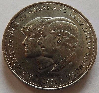 1981 Great Britain 25 New Pence! Au! 1 Year Type Coin! Reeded Edge!