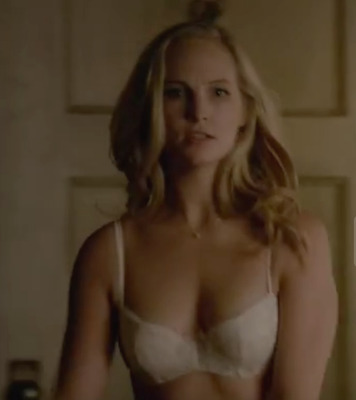 "The Vampire Diries Caroline Forbes's ""candice King"" Screen Worn Lingerie Set 34B"
