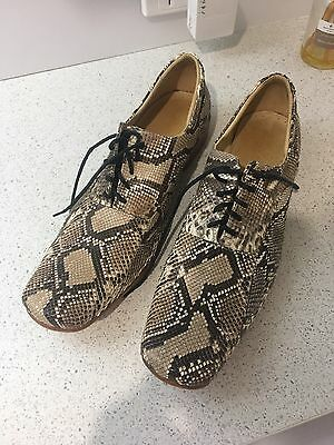 Men's Authentic Leather and Snakeskin Shoes Size 42 - Worn Once!