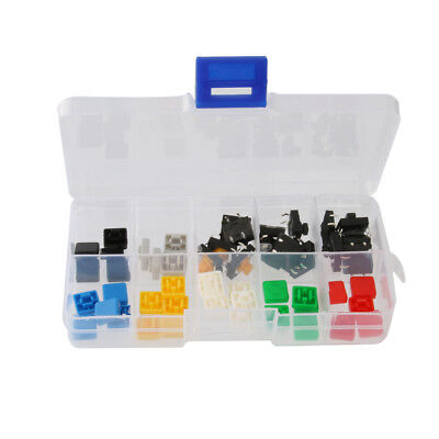 Set of 50 Tactile Push Button Switch Momentary Tact Square Caps Keycap
