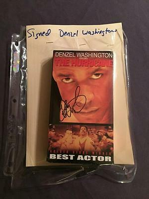 The Hurricane Vhs Tape Autographed By Denzel Washington