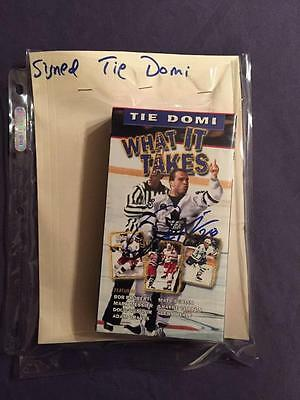 Tie Domi What It Takes Autographed Vhs Tape