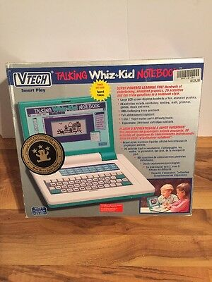 Vintage Vtech Talking Whiz Kid Notebook. French Version