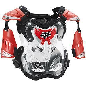 NEW Fox Racing R3 Armour Red Clear Small Kids Youth MX Dirtbike Chest Protector