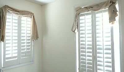 "NEW Interior Solid Wood Plantation Shutters 3 1/2"" Louvers White (Cream)"