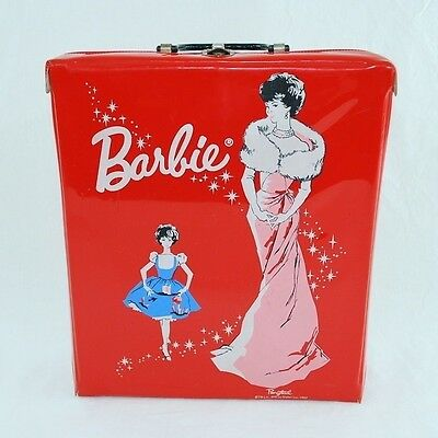 Barbie Doll Carrying Case Red by Pontail Mattel 1962