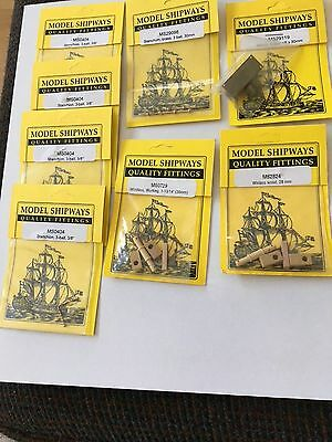 Model Shipways Quality Fittings and Miscellaneous Ship parts 20 packs