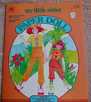 MY LITTLE SISTER  Paper Doll Book, Whitman 1983, Mint & Uncut w. 2 Dolls & Dog