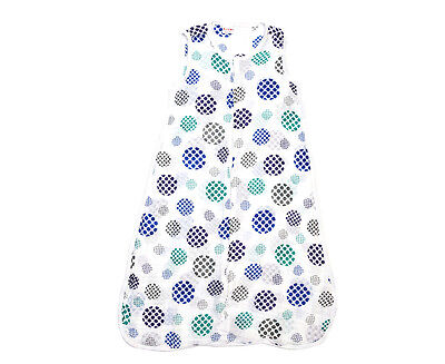 Plum 1 Ply Cotton Muslin Baby Sleep Bag - Optical Print Spot