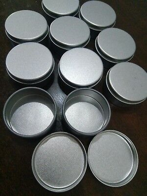 10 pcs Small Mini Round Silver Tin Can Boxes Metal Box Jewelry Container 4*1.9cm