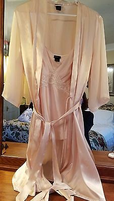 Blush Silky Smooth Cami and Robe Set Lace Size XL NWOT